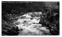 Blackwater River falls in monochrome, Acrylic Print