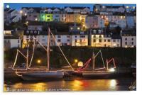 Illuminated Sail Trawlers, Acrylic Print
