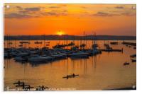 Brixham Marina Sunset, Acrylic Print