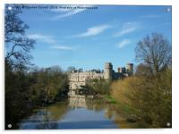 Warwick Castle and the River Avon, Acrylic Print