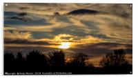 The Sun Setting, Acrylic Print