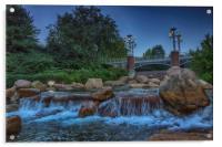 Worlds Fair Park Waterfalls, Acrylic Print