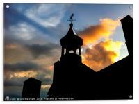 Sunset Silhouette, Acrylic Print
