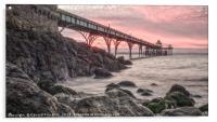 Sunset Clevedon Pier, Acrylic Print
