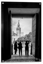 Taking photographs of the Giralda in Seville, Acrylic Print