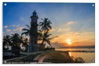 Sunrise Galle Fort lighthouse, Sri Lanka, Acrylic Print
