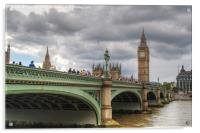Westminster bridge, Acrylic Print