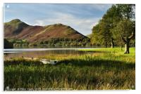 Old Rowing Boat Derwent Water, The Lake District., Acrylic Print