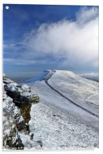 Pen y Fan in winter, Brecon Beacons National Park., Acrylic Print