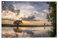 Reflection - River Thurne, Acrylic Print