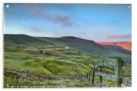The Great Ridge from Mam Tor, Acrylic Print
