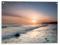 Sunrise at Happisburgh, Acrylic Print