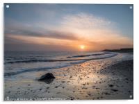 Sun Up Happisburgh Beach, Acrylic Print