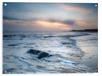 Dawn on Happisburgh Beach, Acrylic Print