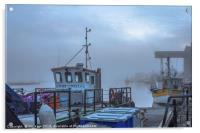 Fishing Boats Wells Harbour, Acrylic Print
