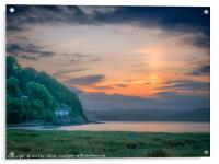 The Taf Estuary of Laugharne Wales, Acrylic Print