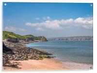 Caldy Island Beach Life, Acrylic Print