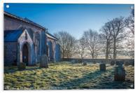 St Margaret's Church in Winter  Felbrigg Hall, Acrylic Print