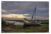 The Wreck at Thornham Staithe, Acrylic Print