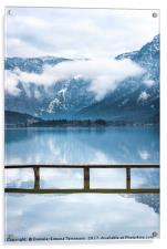 Alps mountains reflected in water, Acrylic Print