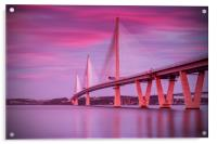 Queensferry Crossing Sunset, Acrylic Print