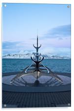 Sun Voyager, Reykjvik, Iceland, Acrylic Print