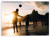 Keepy Uppy on Ipanema Beach, Rio de Janeiro, Brazi, Acrylic Print