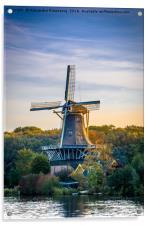 Dutch Windmill at sunrise, Acrylic Print