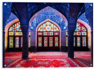 Pink Mosque, Iran, Acrylic Print