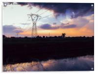 Lattice Towers Sunset, Acrylic Print