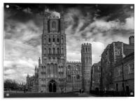 Ely Cathedral in Mono, Acrylic Print