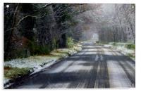 Frosty Roads, Acrylic Print