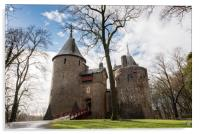 From woodland to Castell Coch, Acrylic Print