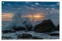 Incoming Tide at Sun Rise, Acrylic Print