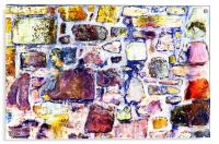 Abstract grunge wall art, Acrylic Print