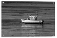 Waiting For The Tide on Swansea Bay, Acrylic Print