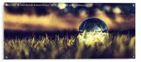 Illuminated crystal ball, Acrylic Print