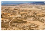 Desert landscape, Acrylic Print