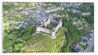 Harlech Castle from a different perspective, Acrylic Print