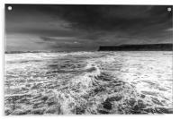 Saltburn by the Sea Seascape, Acrylic Print