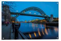 Tyne Bridge in Newcastle upon Tyne, Acrylic Print
