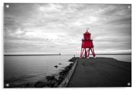 Herd Groyne Lighthouse in South Shields, Acrylic Print