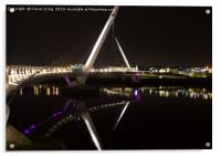 Peace Bridge at Night , Acrylic Print