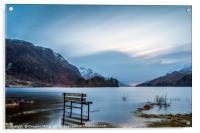 Waterlogged Bench, Loch Shiel, Acrylic Print