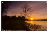 Sunset over Linlithgow Loch, Acrylic Print