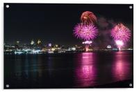 Fireworks over Liverpool, Acrylic Print