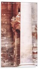 Pillar and carved doorway at the Treasury, Petra, , Acrylic Print