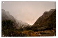 Hail storm over Gamkaskloof Mountains, Acrylic Print