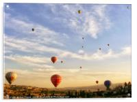 romantic ride in hot air balloon, Acrylic Print