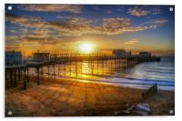 Sunrise at Worthing Pier , Acrylic Print